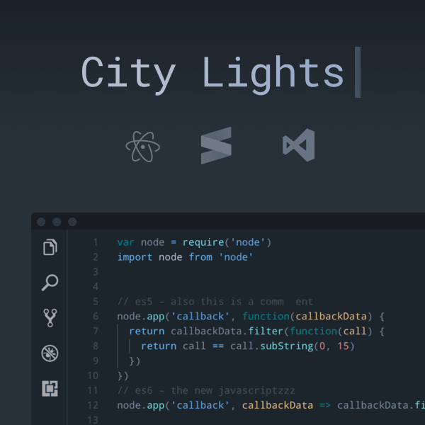 City Lights Icon package