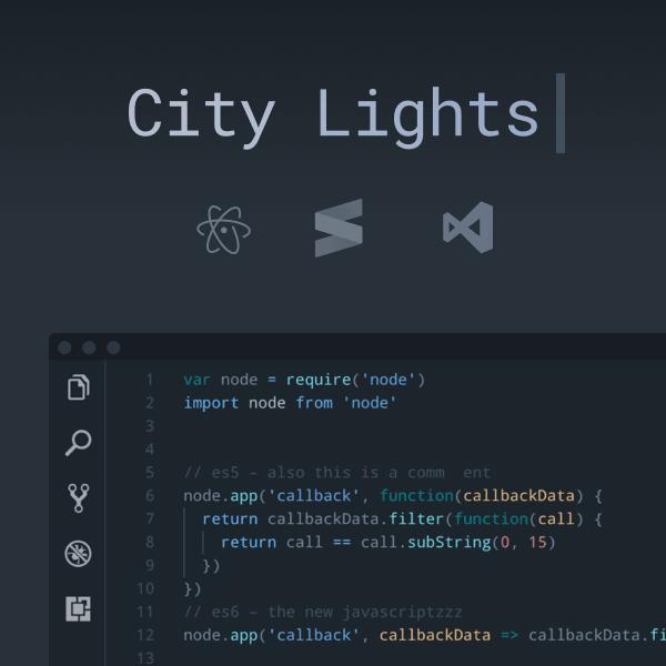 City Lights theme by Yummygum | VSCode Power User